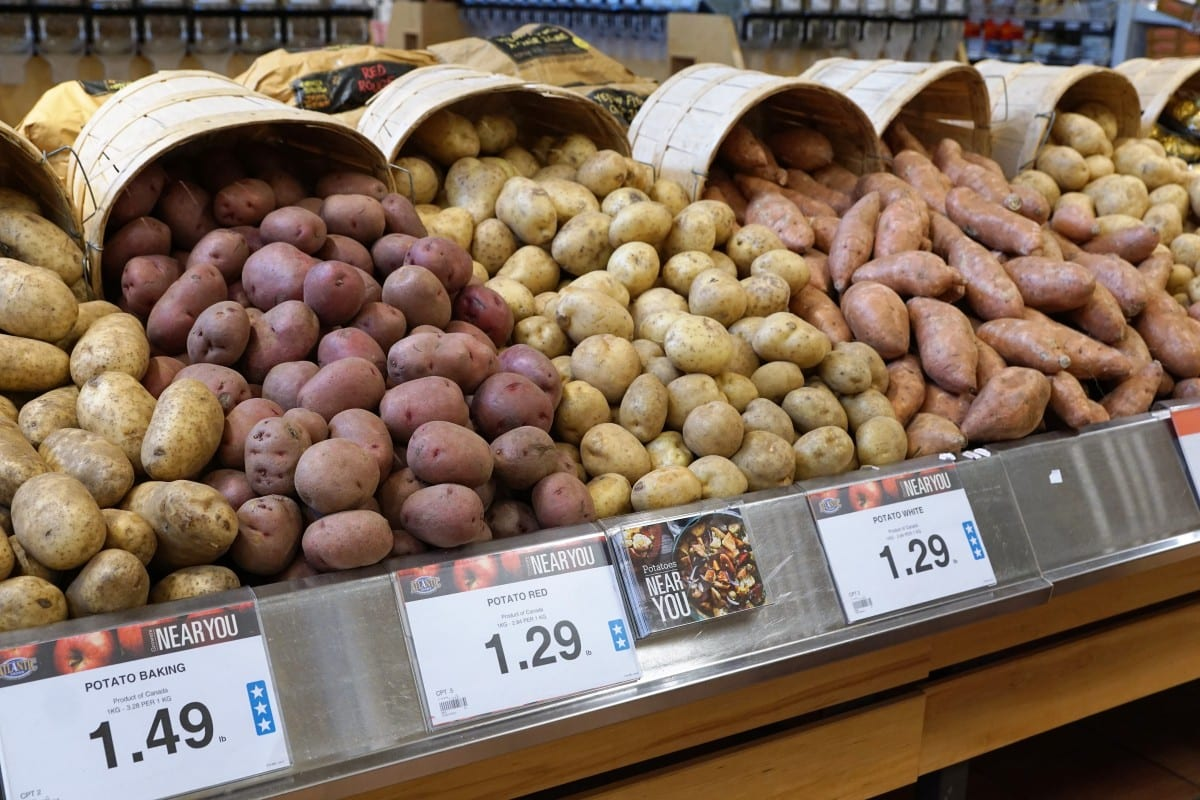 market potatoes