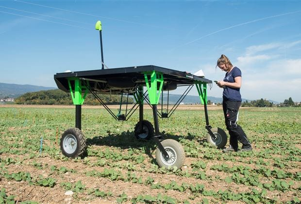 Automation and digitalization are changing agriculture in a sustainable way. The field robots in particular were the focus at a transnational research meeting at Agroscope.