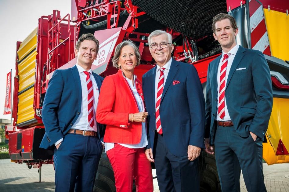 Den fjerde og femte generasjonen, Philipp, Christine, Franz og Christoph Grimme.